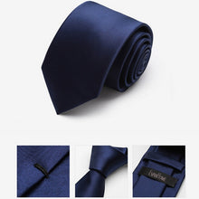 Load image into Gallery viewer, 2016 New Arrivals Brand  Ties For Men Classic Faux Silk Tie Fashion Men Tie Solid Color Slim Ties With Gift Box Free Delivery