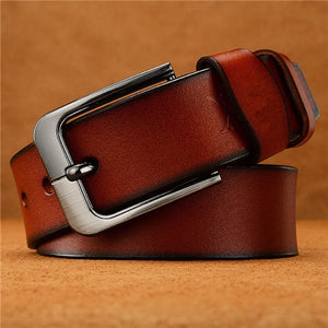 ChoihooNew Arrived Men Belt Cow Genuine Leather Luxury Strap Male Dress Belts For Men Fashion Classice Vintage MalePin Buckle286