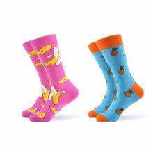 Load image into Gallery viewer, SANZETTI 2 pair/lot Men's Funny Combed Cotton Socks Novelty Colorful Pattern Casual Crew Socks Dress Socks for Christmas Gifts
