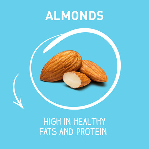 Almonds - High in healthy fats and protein