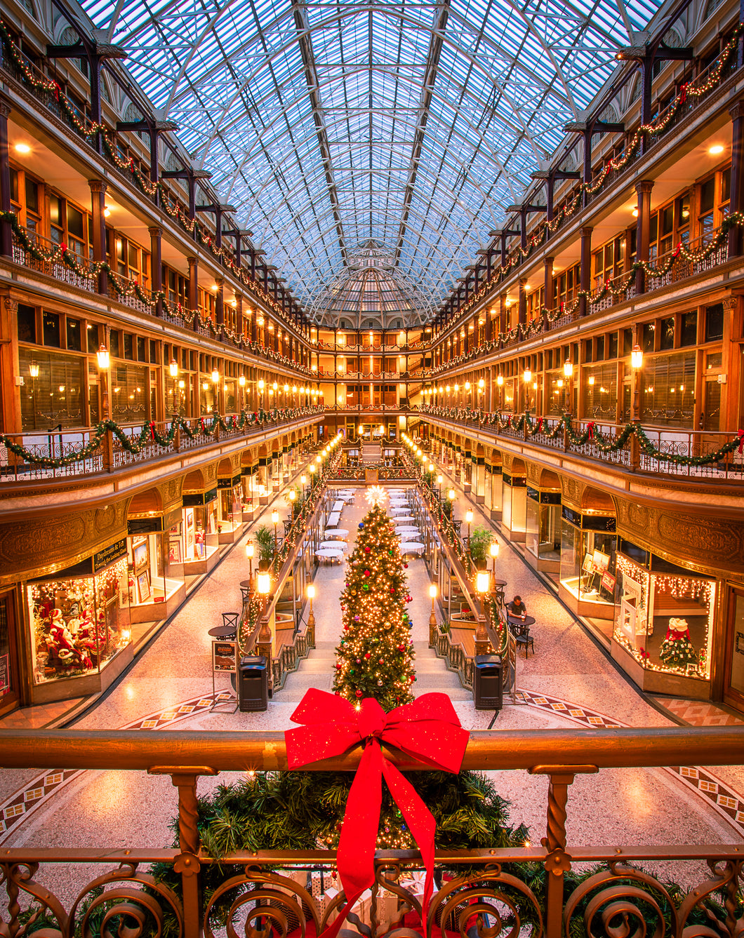 'Old Arcade at Christmas'