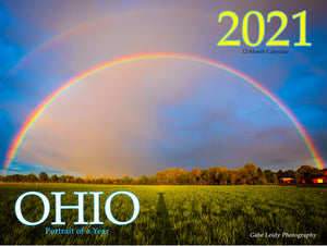 "2021 'Ohio - Portrait of a Year' - 12""x9"" full gloss calendar"