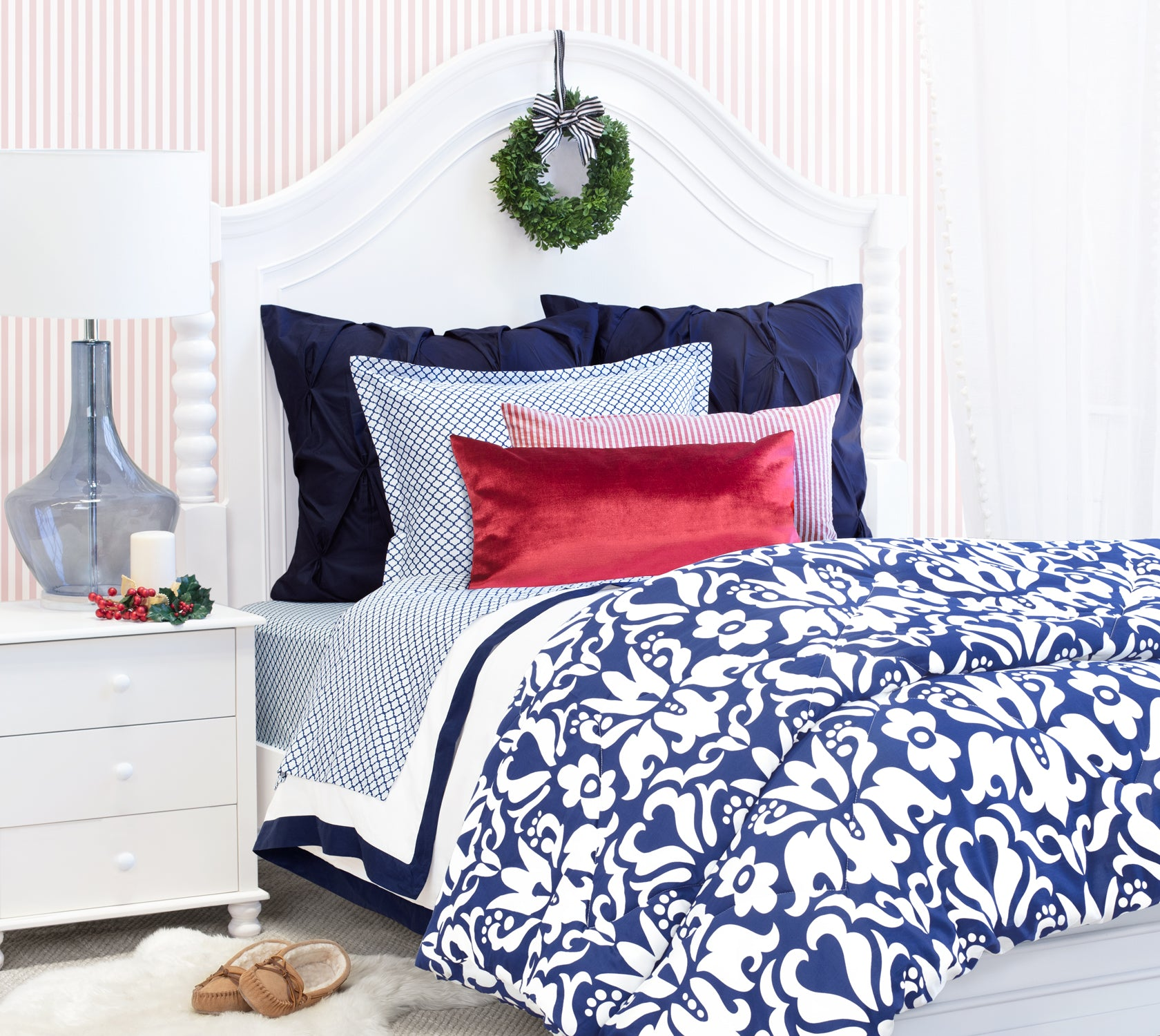 Holiday Blue Bed