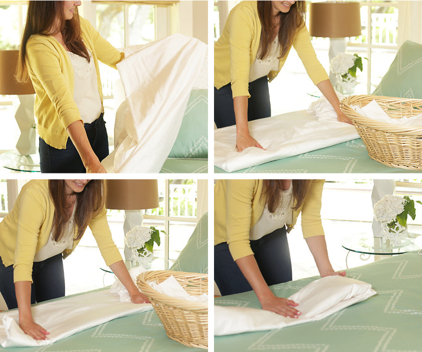 How To Fold A Fitted Sheet Folding A Fitted Sheet