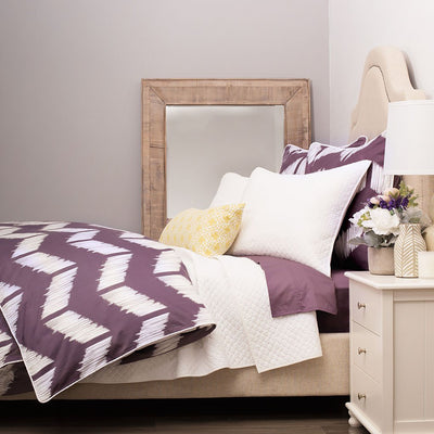 Bedroom inspiration and bedding decor | Purple Addison Duvet Cover Duvet Cover | Crane and Canopy