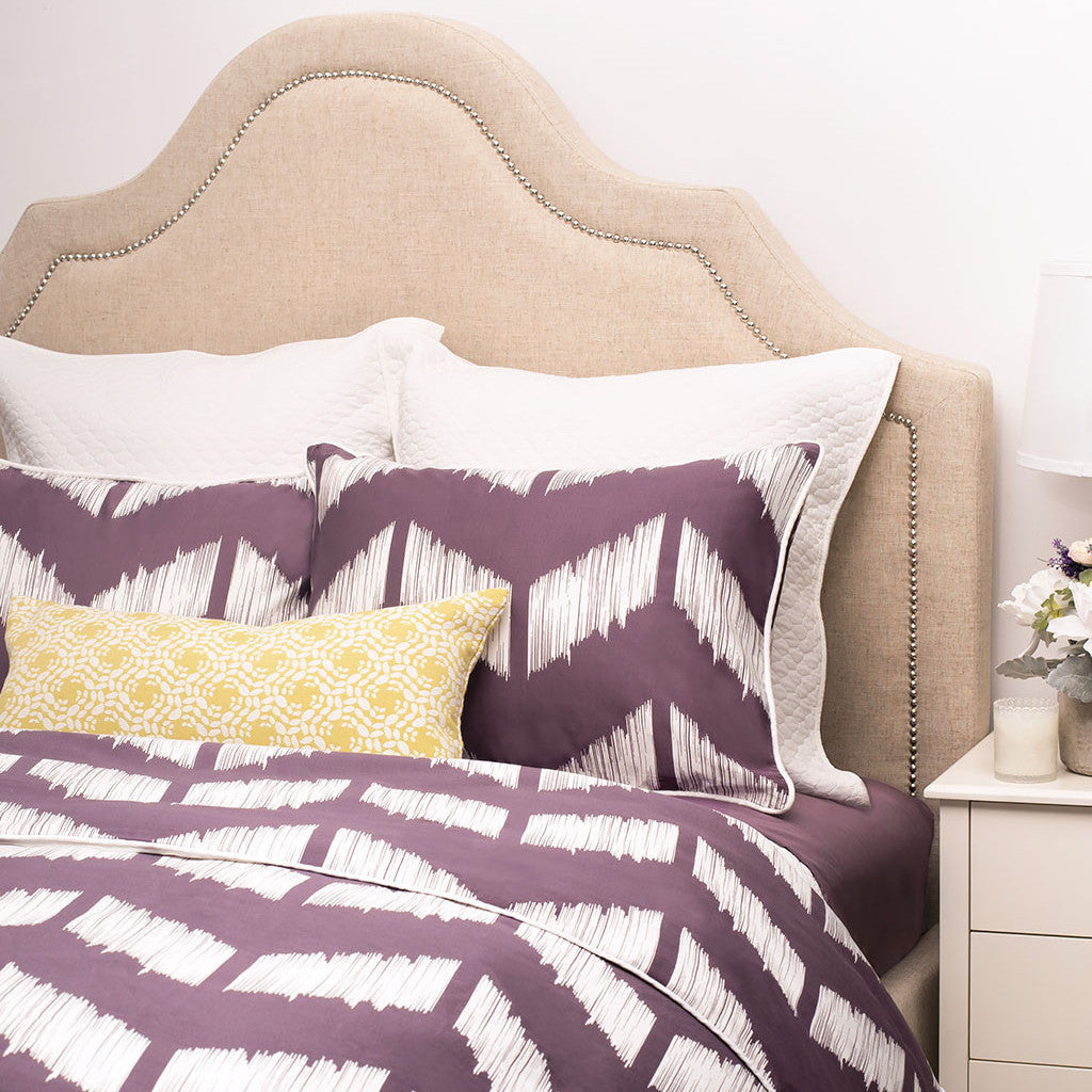 chevron bedding | the addison purple | crane & canopy