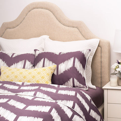Bedroom inspiration and bedding decor | The Addison Purple Duvet Cover | Crane and Canopy
