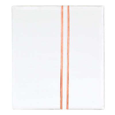 Apricot Lines Embroidered Flat Sheet