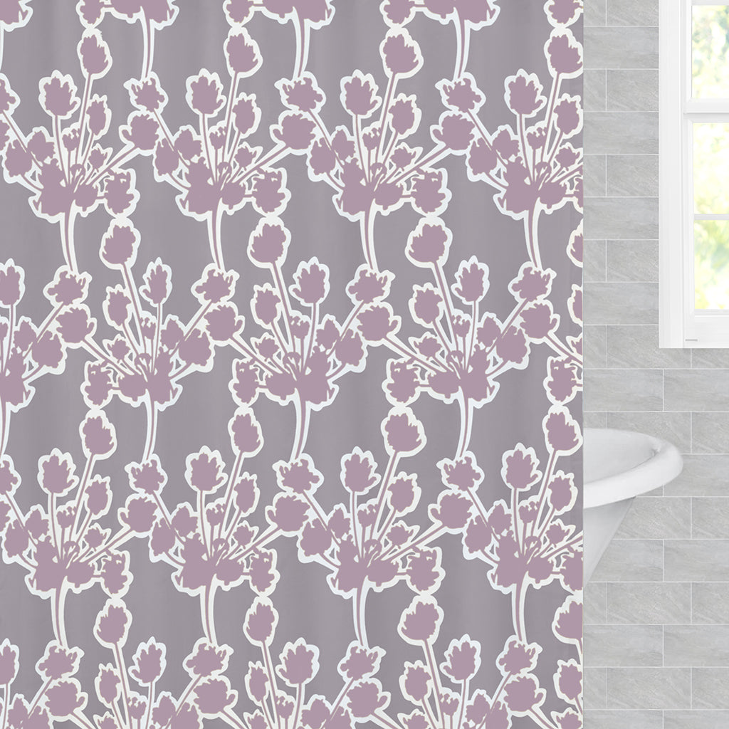 Bedroom inspiration and bedding decor | Ashbury Lilac Shower Curtain Duvet Cover | Crane and Canopy