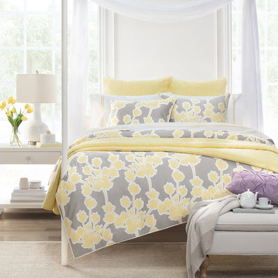 Bedroom inspiration and bedding decor | The Marigold Yellow Lines Embroidered Sheet Sets | Crane and Canopy