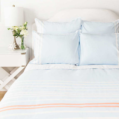 Bedroom inspiration and bedding decor | The Webster Sky Blue Duvet Cover | Crane and Canopy