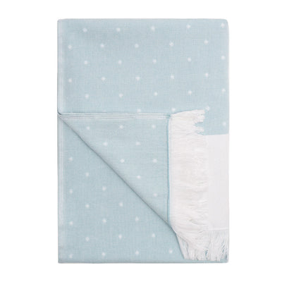 Blue Dot Fouta Bath Towel