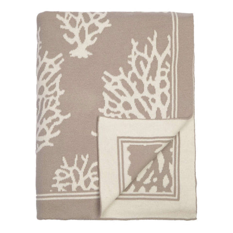 The Beige Reef Reversible Patterned Throw
