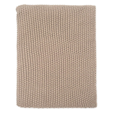 Beige Knotted Throw