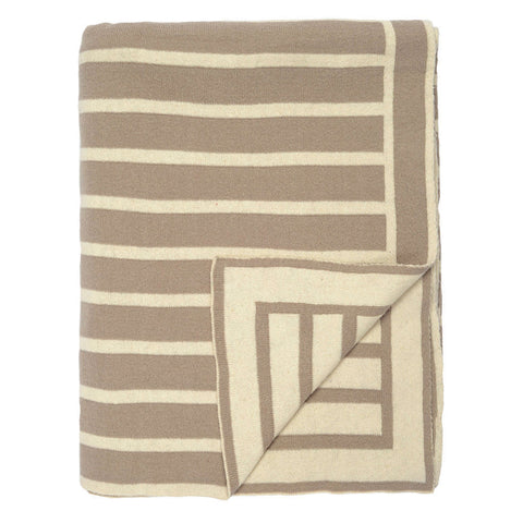 Bedroom inspiration and bedding decor | The Beige Beach Stripes Reversible Patterned Throw | Crane and Canopy