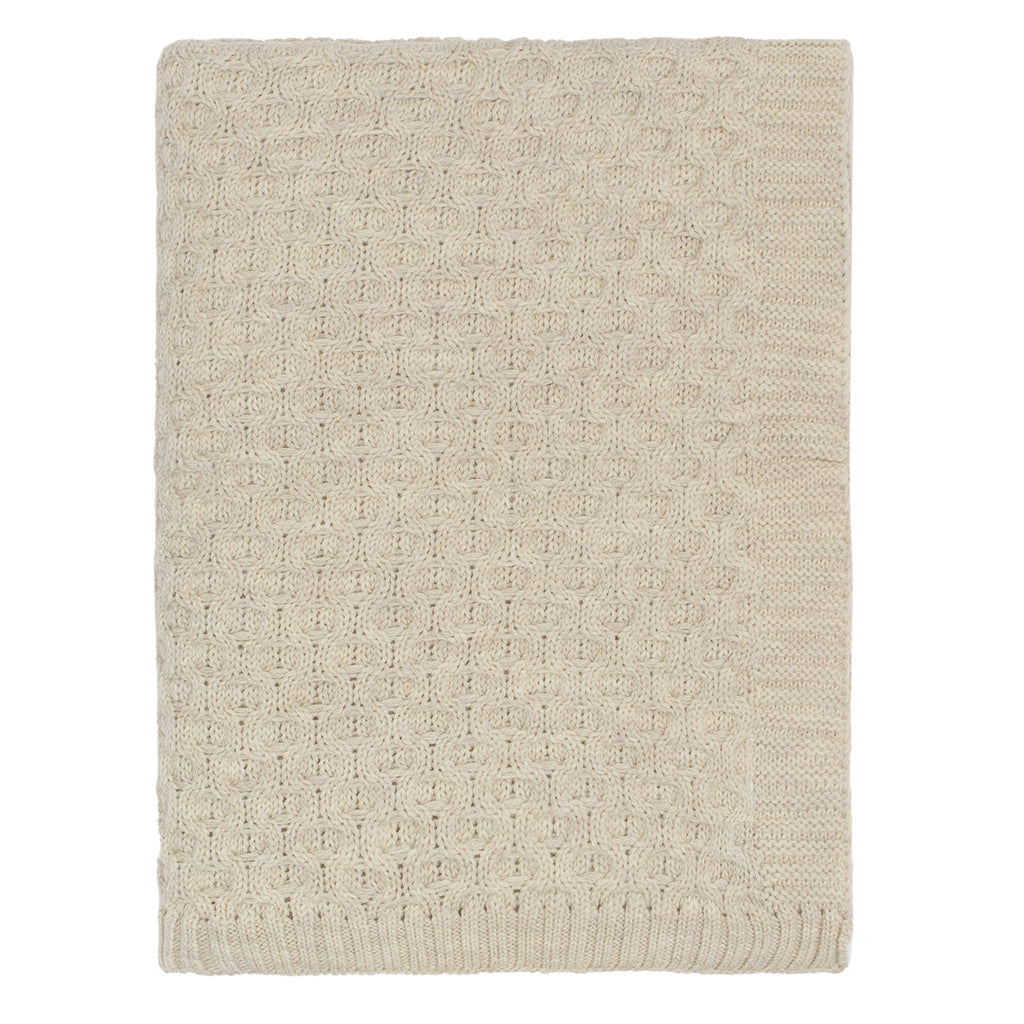 Bedroom inspiration and bedding decor | The Beige Textured Honeycomb Merino Wool Throw Duvet Cover | Crane and Canopy