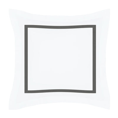 Bella Grey Framed Percale Euro Sham
