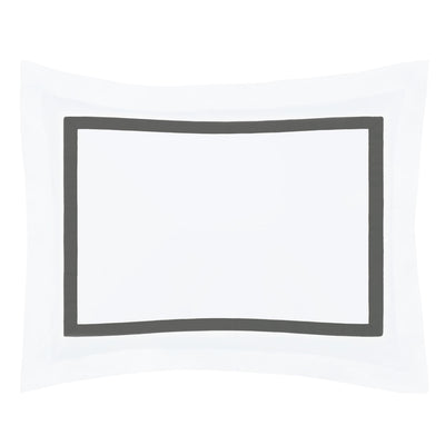 Bella Grey Framed Percale Sham
