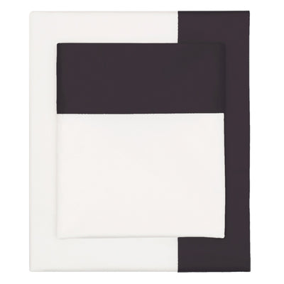 Bedroom inspiration and bedding decor | Black Border Sheet Set 1 (Fitted, Flat, & Pillow Cases)s | Crane and Canopy