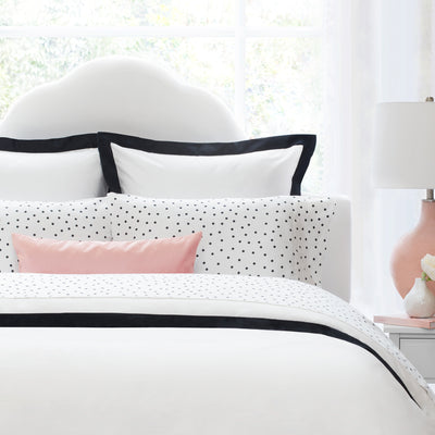 Bedroom inspiration and bedding decor | The Linden Black Border Duvet Cover | Crane and Canopy