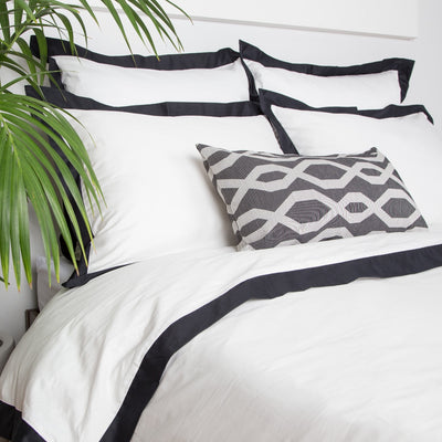 Bedroom inspiration and bedding decor | The Black and White Gate Throw Pillows | Crane and Canopy