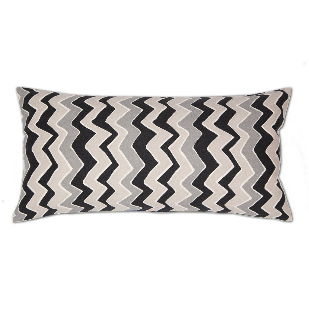 Bedroom inspiration and bedding decor | Black and White Zig Zag Throw Pillows | Crane and Canopy