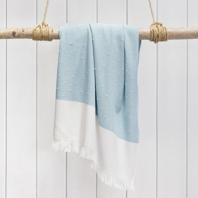 Blue Dot Fouta Towel Essentials Bundle (2 Wash + 2 Hand + 2 Bath Towels)