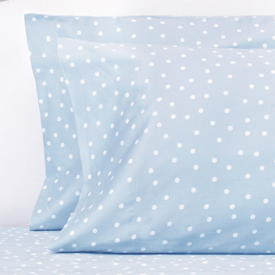 French Blue Polka Dots Pillow Case