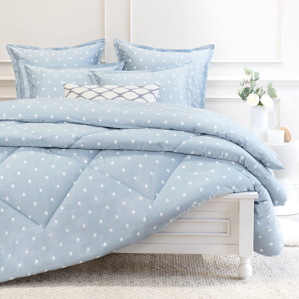 Bedroom inspiration and bedding decor | Flora Blue Comforter Duvet Cover | Crane and Canopy