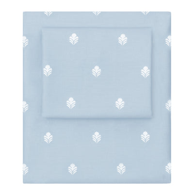 Blue Flora Sheet Set 2 (Fitted & Pillow Cases)