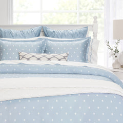 Bedroom inspiration and bedding decor | The Flora Blue | Crane and Canopy