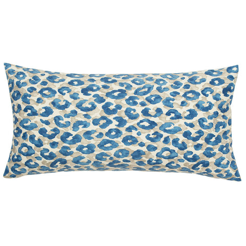 The Sapphire Blue Leopard Throw Pillow