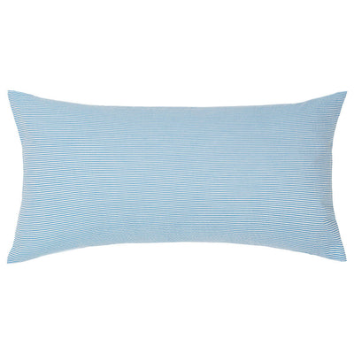 Ocean Blue Seersucker Throw Pillow