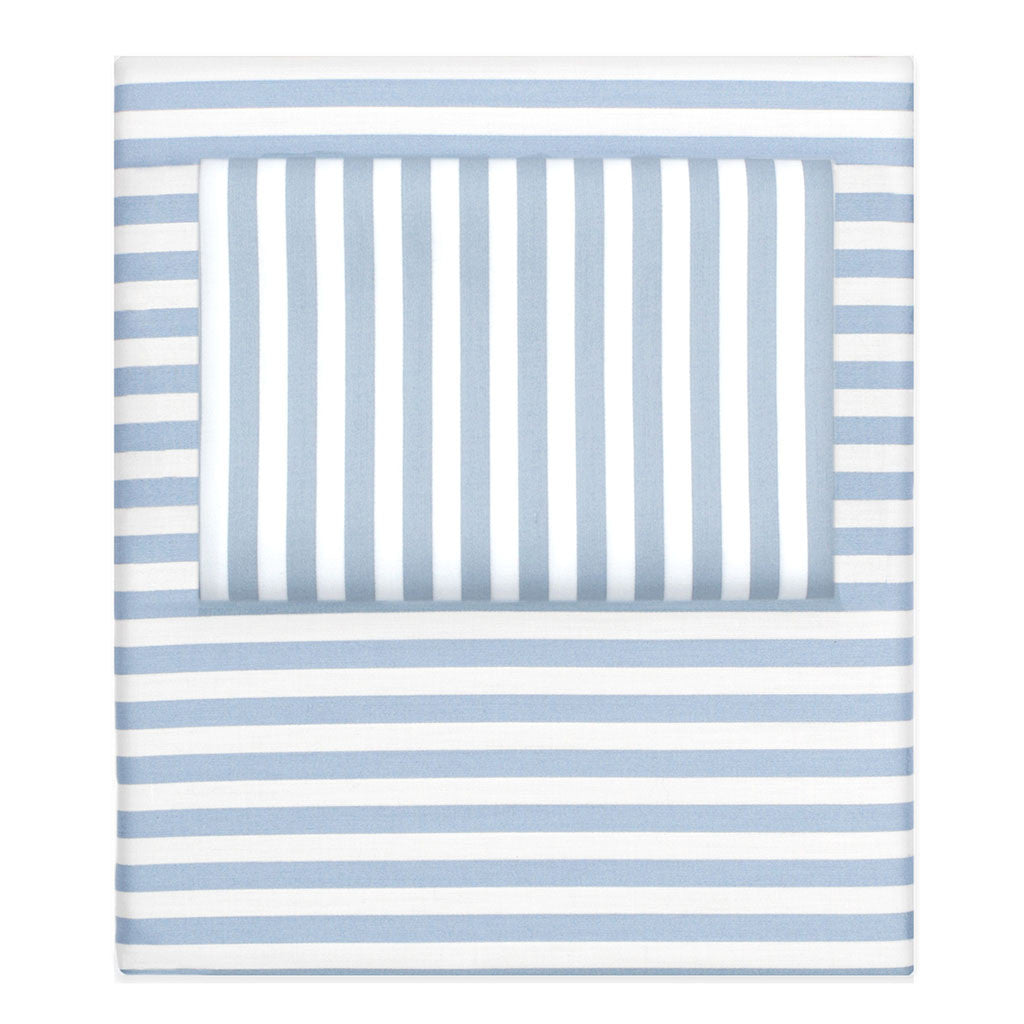 Bedroom inspiration and bedding decor | French Blue Striped Sheet Set  (Fitted, Flat, & Pillow Cases)s | Crane and Canopy