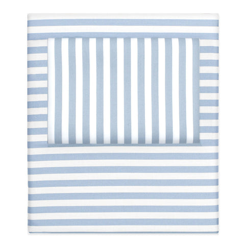 The French Blue Striped Sheet Set