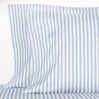 French Blue Striped Pillow Case