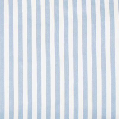 French Blue Striped Fitted Sheet