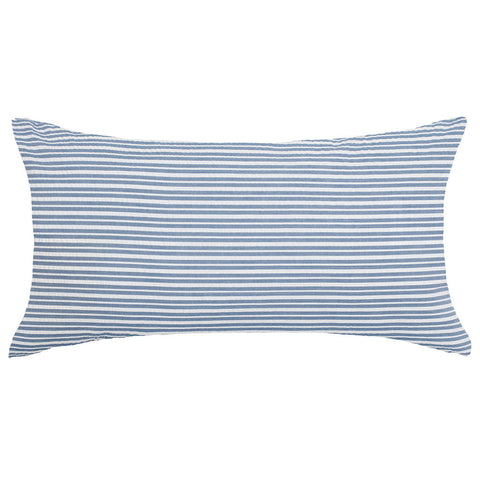 The Dusk Blue Seersucker Throw Pillow