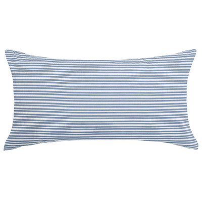 Dusk Blue Seersucker Throw Pillow