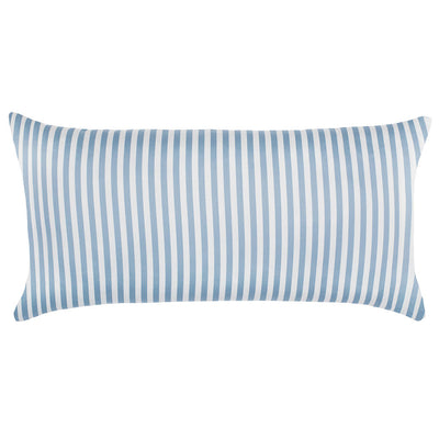 French Blue Striped Throw Pillow