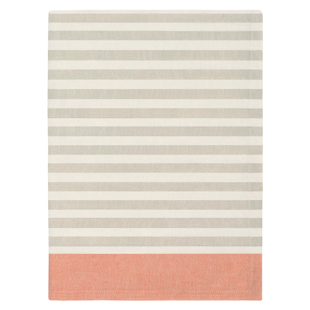 Bedroom inspiration and bedding decor | The Border Stripe Beige and Orange Tea Towel   | Crane and Canopy