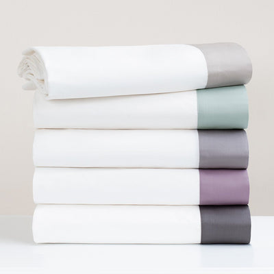 Bedroom inspiration and bedding decor | Dove Grey Border Sheet Set (Fitted, Flat, & Pillow Cases)s | Crane and Canopy