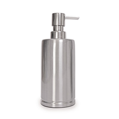 Brushed Stainless Steel Bath Accessories, Soap/Lotion Pump