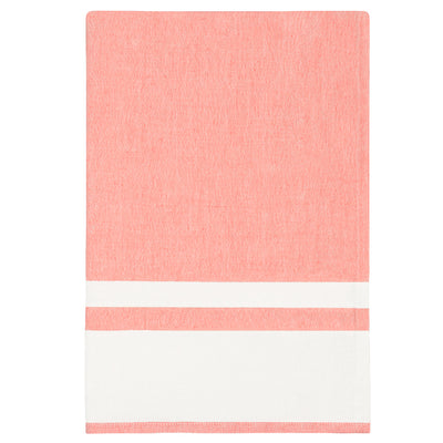 Chambray Stripe Coral Tea Towel