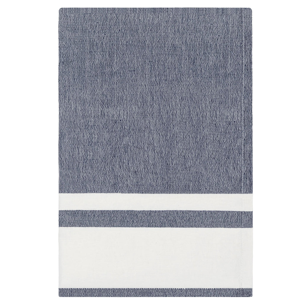 Bedroom inspiration and bedding decor | Chambray Stripe Indigo Tea Towel   Duvet Cover | Crane and Canopy