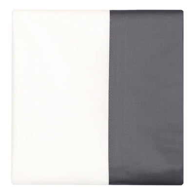 Charcoal Grey Border Pillow Case