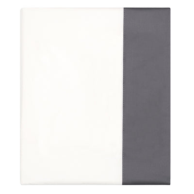 Charcoal Grey Border Flat Sheet