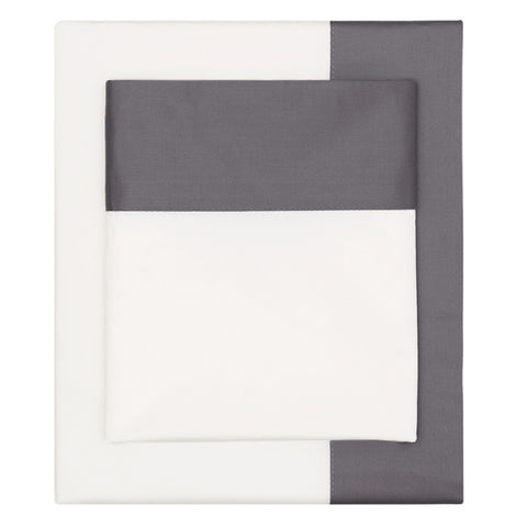 Bedroom inspiration and bedding decor | The Charcoal Grey Border Sheet Set | Crane and Canopy