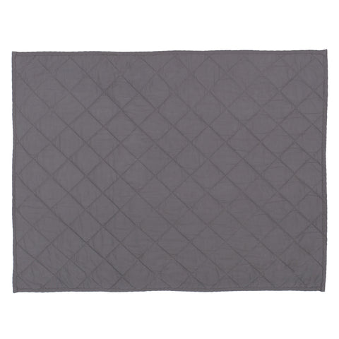Charcoal Grey Diamond Quilt Sham