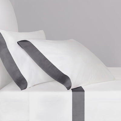 Bedroom inspiration and bedding decor | The Charcoal Grey Border Sheet Sets | Crane and Canopy